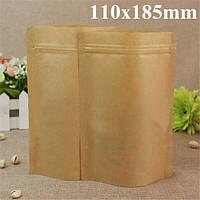 Крафт- бумажные мешки алюминиевой фольги упаковки встать с застежкой-молнией для хранения продуктов 110x185mm