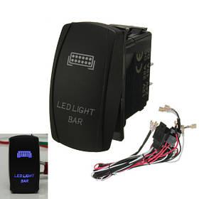 LED Свет тумблер включения / выключения жгута проводов с предохранителем реле CE