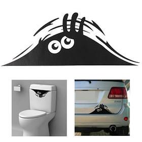 Автомобиль туалет монстр ванная пропуск декора сиденья съемный DIY настенные наклейки искусства