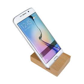 Универсальный практичный твердый буковый деревянный сотовый телефон Bracke Stand Holder с выемкой:20 мм