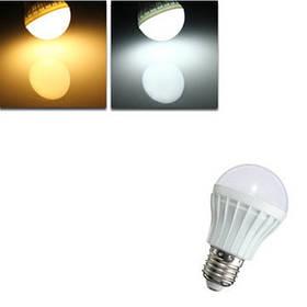 E27 5W SMD 5630 8 теплый белый / белый шар шар лампы пластиковые загорается лампочка 220-240