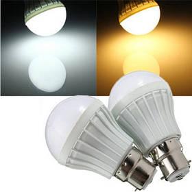 B22 5w 8 SMD 5630 теплый белый / белый шар шар лампы пластиковые загорается лампочка 220-240