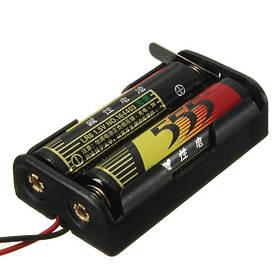 3В батареи серии случае с выключателем и проводной 2 х АА