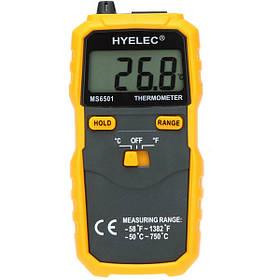 Hyelec peakmeter ms6501 ЖК-дисплей termostato цифровой термометр типа термопары к термометром