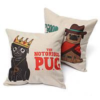 Шапка мультфильм собака хлопок льняная подушки случаев талии Диван подушки сомкнутость крон