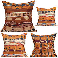 Винтажный стиль африканских хлопок лен подушка случаях офис диван чехлы