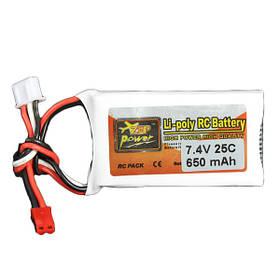7.4V 650mAh 25C Lipo батареи Jst штекер 2S ZOP питания
