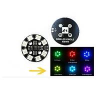 Matek RGB LED Circle Board 7-colors X8 16V Для FPV RC многороторных гонок Дрон
