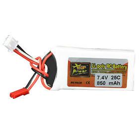 25c Lipo батареи Jst штекер 2S ZOP питания 7.4v 850mAh
