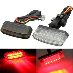 Мотоцикл 6 LED задний номерной знак света красная лампа 12v E-MARK