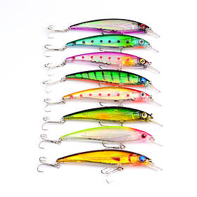 Proberos 8 шт 11 см гольян приманки рыбалка жесткий приманки приманки рыболовные снасти