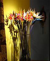 31-дюймовый моделирования paradiesvogel искусственный райская птица цветок дома стол окна деко