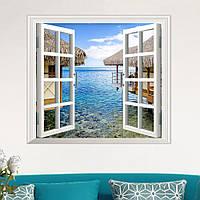 3d искусственный вид из окна 3d наклейки для стен декор наклейки на море Номер с видом на дом стены подарок