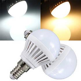 E14 4W 180-240lm 2835 SMD теплый белый/белый LED земной шар лампы 110В 1TopShop