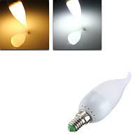 E14 3w белый теплый белый LED свеча пламя люстра лампа ac 220v
