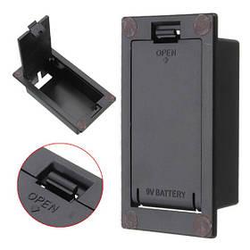 Плоская гора 9В батареи чехол крышка коробки электрической гитары бас частью черный