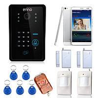 Эннио WiFi видео домофон система с сигнализации системы карты разблокировать пульт беспроводного управления