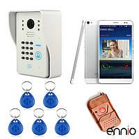 Эннио WiFi видео домофон система с функцией разблокировки карты дистанционного беспроводного управления