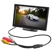 Авто Задний вид сзади Монитор Резервное копирование всасывающей стойки камера TFT LCD 5 дюймов
