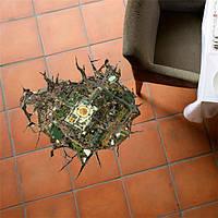 3d пол отверстие наклейки наклейки съемный город обозревает стен дома пол декор подарок