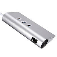 3-портовый USB 3.0 концентратор-разветвитель с гигабита локальных сетей RJ45 LAN кабель адаптера