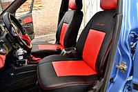 Авточехлы из экокожи Chevrolet Aveo LTZ (подлокот) (T300) 2012-> Standart Союз-авто