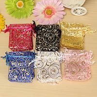100шт органзы подарок мешок подарка ювелирных изделий конфеты упаковка мешка холст свадьба подарочные пакеты