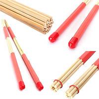 2шт бамбука барабанные щетки связывать джазовые барабанные палочки