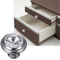 5шт блеск стекла ручки ручки двери мебели кухня шкаф шкаф ящик