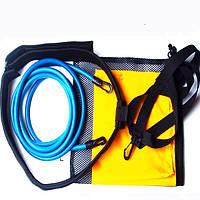 Плавание тренер установить тяговое сопротивление плавать тренажер + вода + карман сетчатый мешок