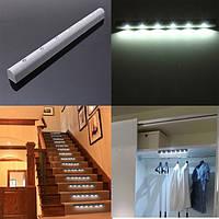 Беспроводной датчик движения PIR 6 LED батарейках свет шкафа домой лестницы ночника