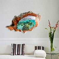 3D под водой Наклейки на стенах Съемные декоративные настенные наклейки