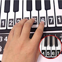 Клавиатура пианино музыки стикер Примечания урок ключевые наклейка учиться учить играть 52 метки