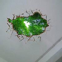 3d потолок отверстие в стене отличительные знаки съемные бамбука декор наклейки роща стен дома стены