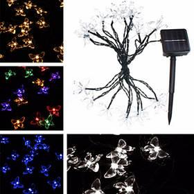 4.8м 20 LED солнечной водонепроницаемый бабочка фея света строка на открытом воздухе Рождество партии садовый декор 1TopShop