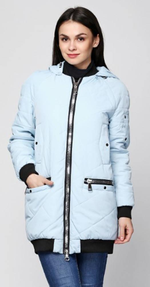 Куртка с манжетами голубая
