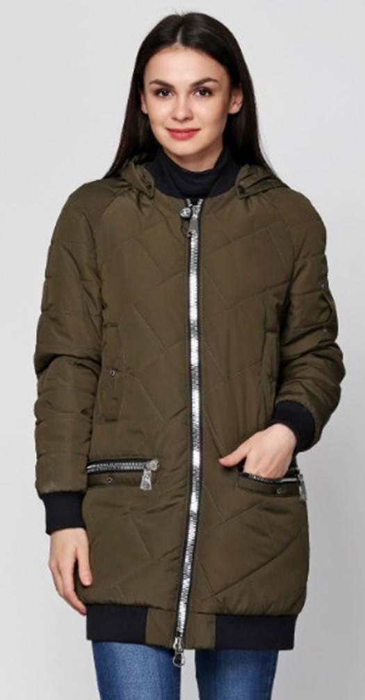 Куртка с манжетами хаки