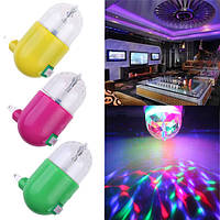 3вт магический шар вращающийся RGB LED лампы свет этапа для диско вечеринки подарок переменного тока 85-265в
