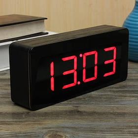Цифровой LED будильник с календарем и термометром