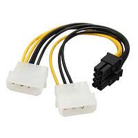 PCI-E 8 контактов с 2x 4-контактный адаптер питания HDD Кабельный ввод провод для ПК жесткий диск