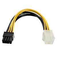 PCI-E 6-контактный к PCI-E 8 контактов кабеля питания адаптера ведущего провода для ПК