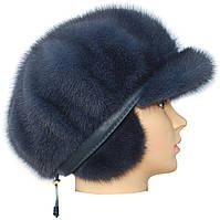 Меховая кепка мягкая норковая,Мальвина (ирис