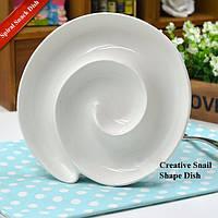 Творческий Керамический Спираль Закусочный Блюдо для Хлеба Завтрак Пластина Многофункциональные Обеденные Принадлежности