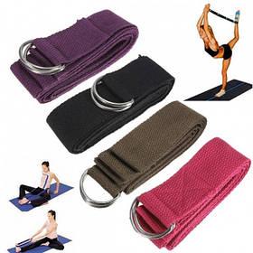 6 футов йога стрейч ремень D-кольцо пояса фитнес-тренировки ремень пояс