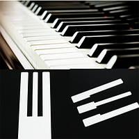 Фортепианные слоновой-моделируется слоновой кости для замены ключей верхнюю пианино аксессуар