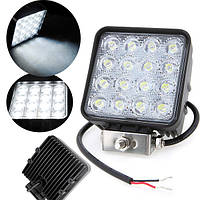 16LED 32W Work Light для внедорожника Jeep ATV SquareOffroad Led Лампа Вождение Spot Lightt