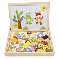 Детские детская деревянная чертеж черно-белый магнитный доска пазл сортировка развивающие игрушки