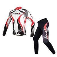 Santic мужские Велоспорт велосипед с длинным рукавом Джерси спортивной езды костюм велосипед одежды