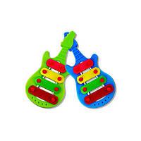 3шт детские ребенка малыш мультфильм ксилофон гитара игрушка мудрости развитию музыкального инструмента