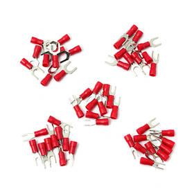 10шт красный изолированный провод вилка соединитель электрический обжимной терминал 22-диктор 16awg